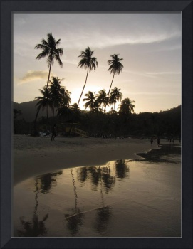 Sunset over Maracas Bay
