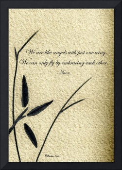Zen Sumi 4d Antique Motivational Flower Ink