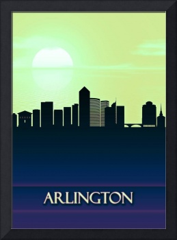 Arlington City Skyline