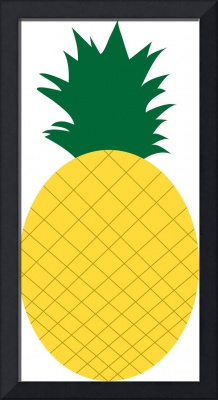 Yellow Pineapple with Green Leaves