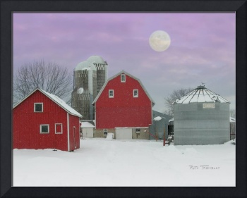 Muelleners Farm by Moonlight
