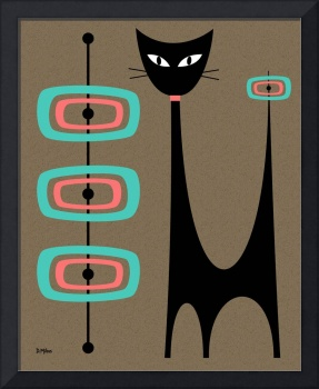 Atomic Cat with Pink and Aqua Orbs