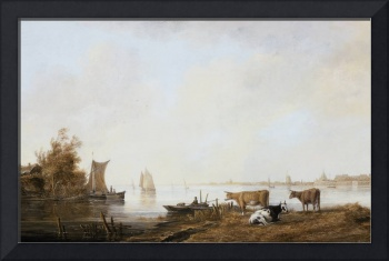 Aelbert Cuyp - View of the Maas near Dordrecht