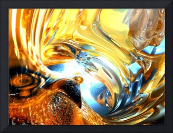 Glass Tidal Wave Abstract