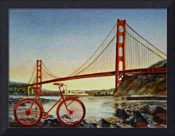 Bicycle In The  City Of San Francisco