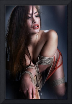 Tied asian model - Fine Art of Bondage (V2)
