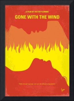 No299 My Gone With the Wind minimal movie poster