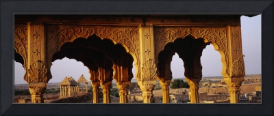 Monuments at a place of burial Jaisalmer Rajastha