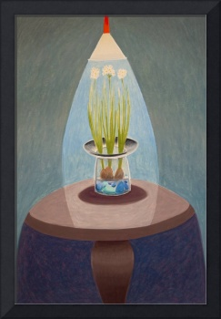 Floral: Paperwhites on Brown Table