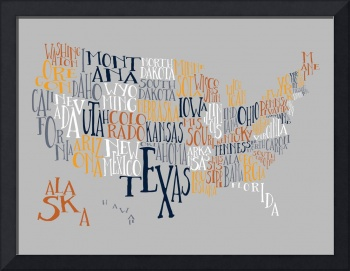 Overlook US Typography Map