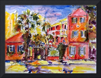 Elliott House Charleston South Carolina Watercolor