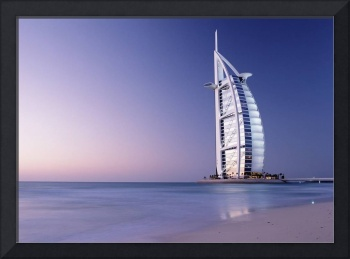 The Burj Al-Arab Or Arabian Tower At Dusk Dubai
