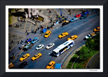 Fake Miniature Cabs and Buses. Columbus Circle, NY