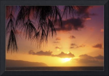 Hawaii, Oahu, Beautiful Sunset