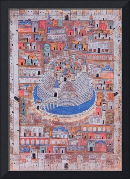 Map of Aleppo, c.1600 (color litho)