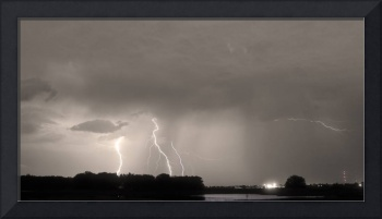 Thunder Rolls And The Lightnin Strikes Sepia