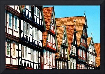 Row of Building in Downtown Cella, Germany