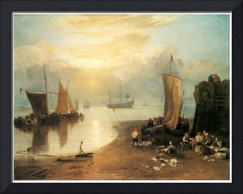 Sun Rising Through Vapour by J. M. W. Turner
