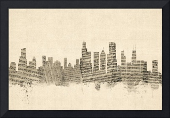 Chicago Illinois Skyline Sheet Music Cityscape