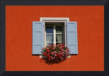 One Window In A Red Wall