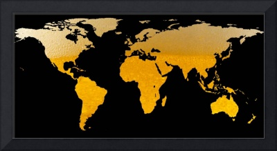 World Map Silhouette - Beer