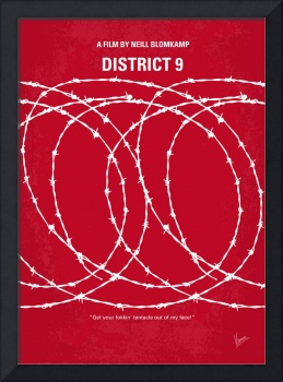 No023 My District 9 minimal movie poster