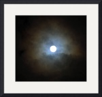 Super Moon through the Clouds IMG_8480 by Jacque Alameddine