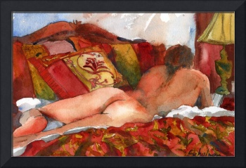 Book Worm, Male Nude Art