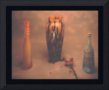 Still life vases with surface texture