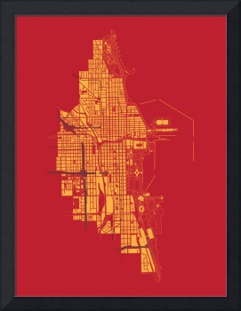 Chicago - Gold on Red