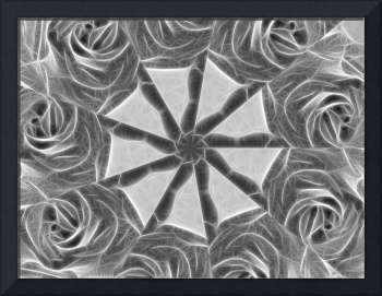 Gray Kaleidoscope Art 17