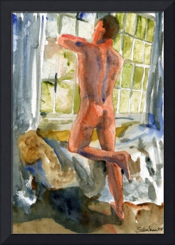 Window Frame, Male Nude Art
