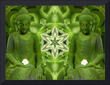 Double Green Buddhas