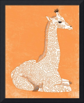 Baby Giraffe in Orange