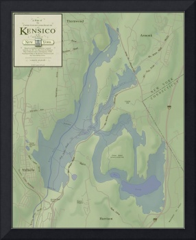 A Map of the Former Town of Kensico, NY