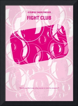 No027 My Fight Club minimal movie poster