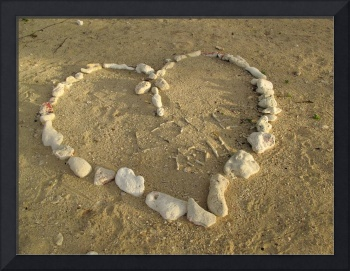 Coral Heart on the Sand