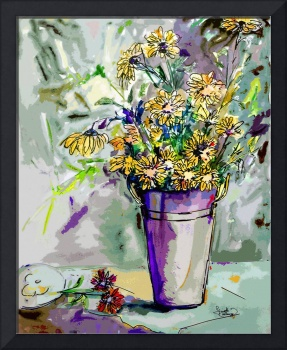 Modern Decorative Flower Still Life