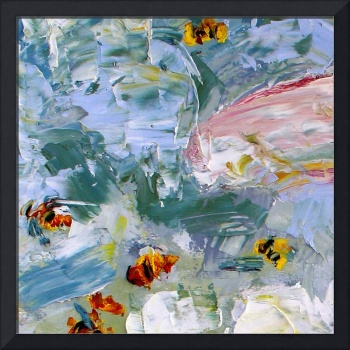 Abstract Bees Oil Painting