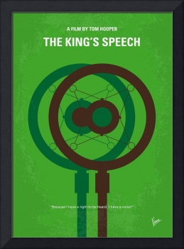 No587 My The Kings Speech minimal movie poster