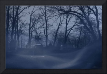 Graveyard Horror Picture - Creepy