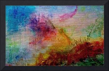 Digital Sunrise Abstract Watercolor Painting 1a