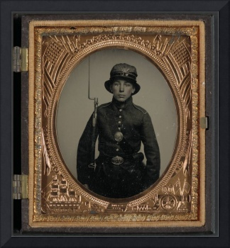 Unidentified young soldier in 5th New Hampshire In