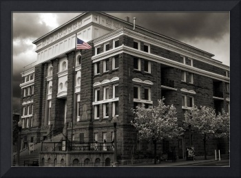 Post Office - Sepia - Color flag