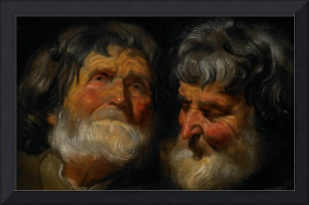 Two studies of the head of an old man, c.1630 (oil