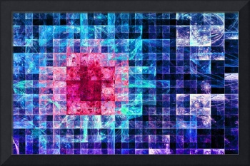 Abstract checkered fractal