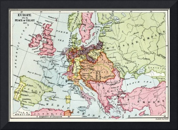 Map of Europe after the Pease of Tilsit in 1807