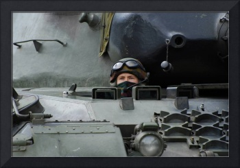 Tank driver of a Leopard 1A5 MBT of the Belgian Ar