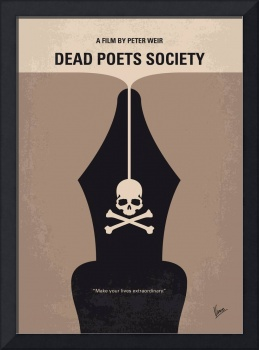No486 My Dead Poets Society minimal movie poster