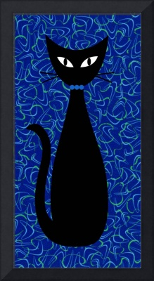 Boomerang Cat in Blue